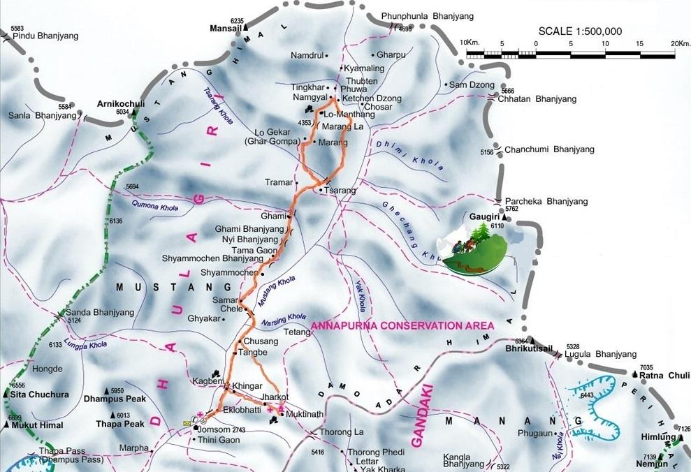 Trekking in Nepal Mustang