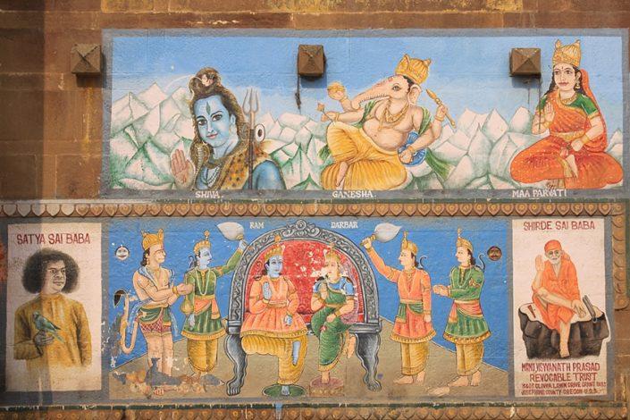 Murales a Varanasi