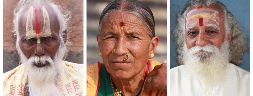 Tilak e Bindu le decorazioni sulla fronte