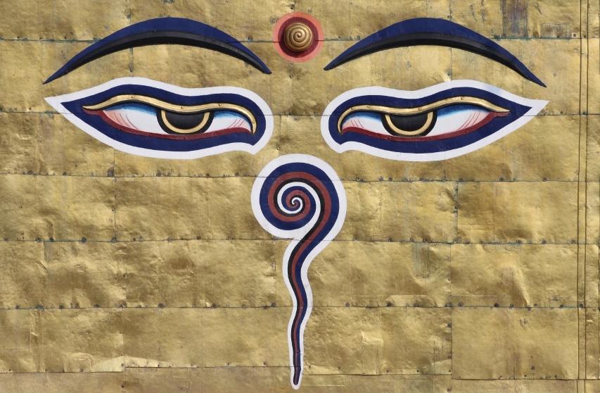 Occhi del Buddha presso stupa Swayambhunath