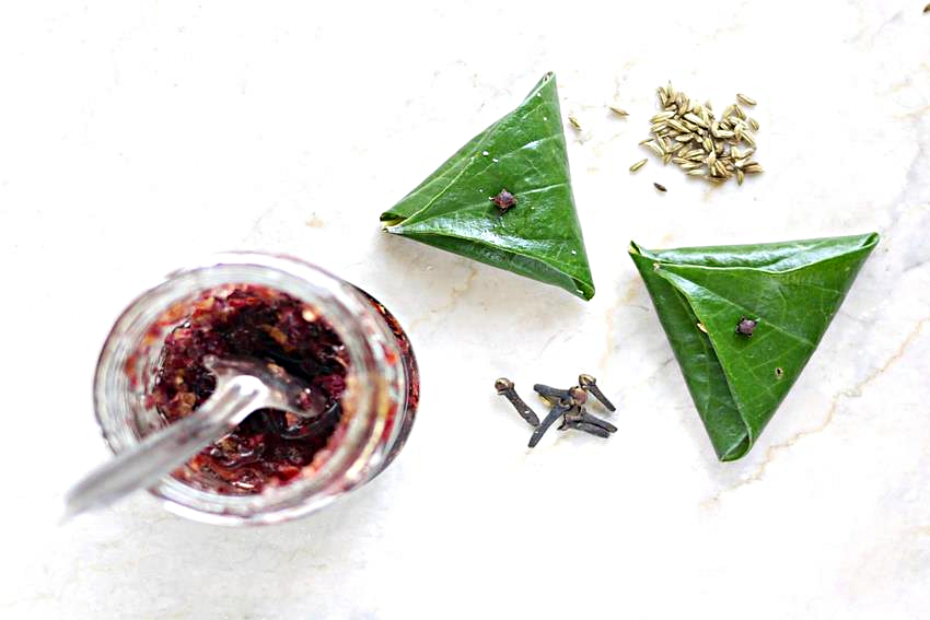 paan rinfrescante indiano