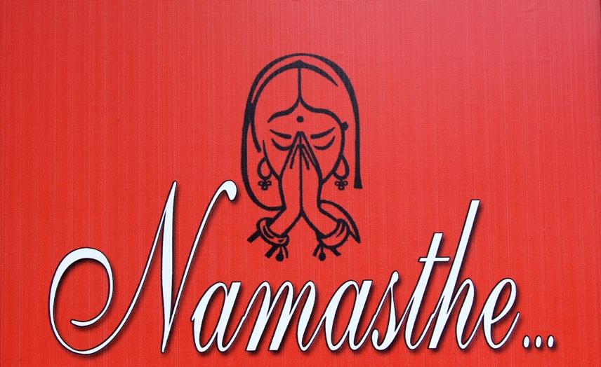 Namaskar mudra e Anjali mudra