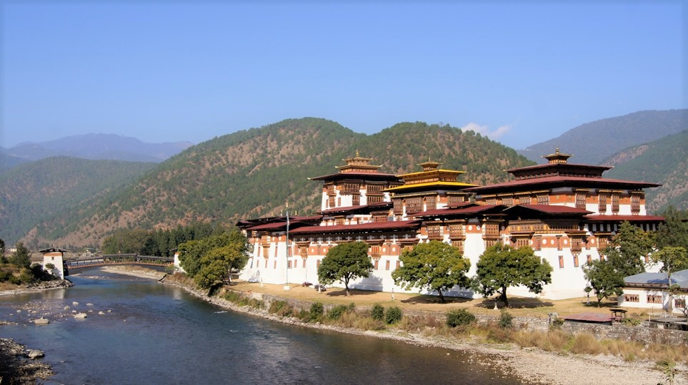 Punakha Dzong felicità