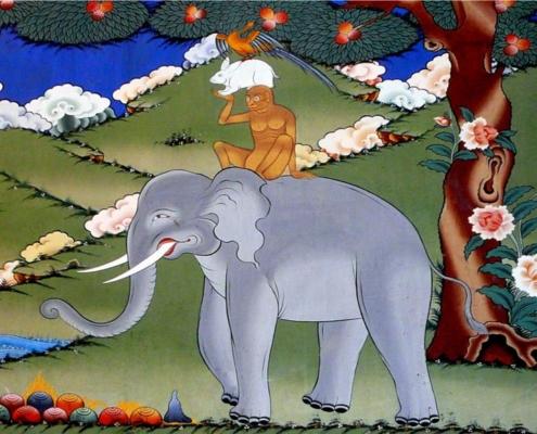 Bhutan Fiaba quattro amici