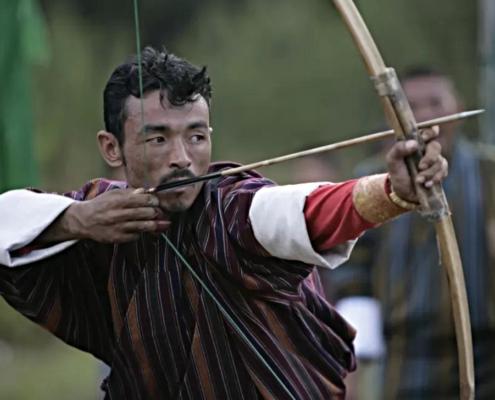 Bhutan Tiro con l'arco